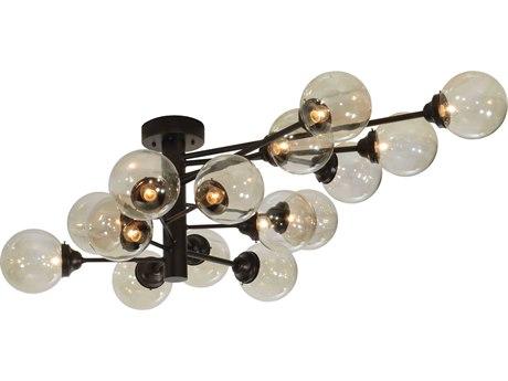 Meyda Tiffany Galaxy Oblong 15-Light 64'' Wide Flush Mount MY127937