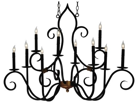 Meyda Tiffany Clifton Oblong Ten-Light Grand Chandelier MY132000