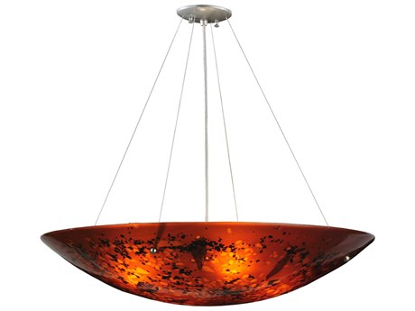 Meyda Tiffany Metro Fusion The Rock Glass Four-Light Inverted Pendant Light