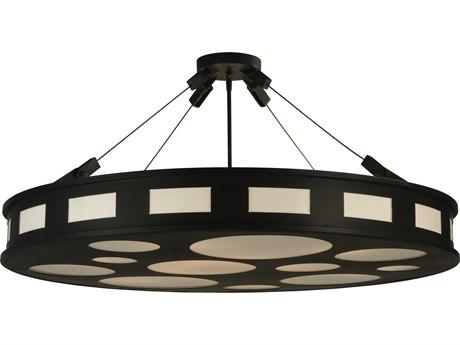 Meyda Tiffany Geo 12-Light Semi-Flush Mount Light MY122670