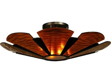 Meyda Tiffany Metro Fusion Elite Glass Six-Light Semi-Flush Mount Light MY135083