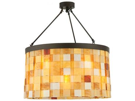 Meyda Tiffany Cilindro Calico 12-Light Semi-Flush Mount Light MY138866