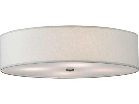 Meyda Tiffany Cilindro Off White Fabric Four-Light Flush Mount Light MY145895