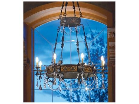 Meyda Filomena Gilded Tobacco 8-light 48'' Wide Crystal Chandelier MY117514