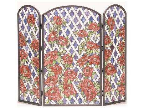 Meyda Tiffany Rose Trellis Folding Fireplace Screen