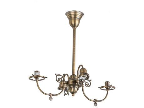 Meyda Tiffany Gas Electric 4 Arm Four-Light 24 Wide Chandelier