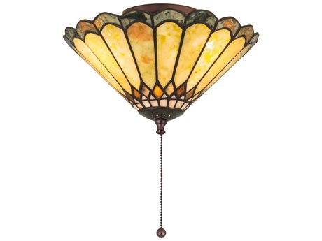 Meyda Tiffany Jadestone Carousel Three-Light Flush Mount Light MY71007