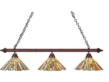 Meyda Tiffany Jadestone Delta Three-Light Island Light