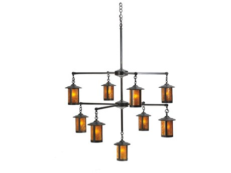 Meyda Tiffany Fulton Prime 3 Tier Nine-Light 42 Wide Grand Chandelier