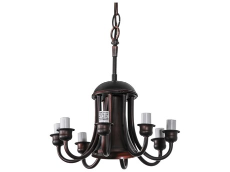 Meyda Tiffany Mahogany Bronze Down Light Eight-Light Wire Canopy