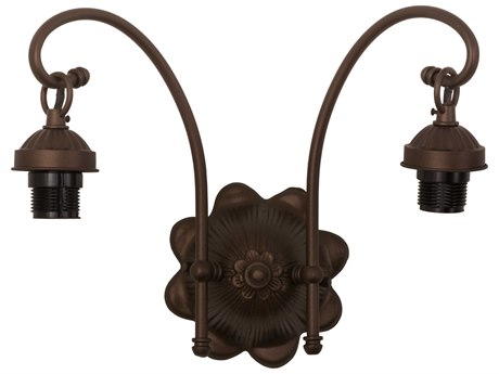 Meyda Tiffany 2 Arm Two-Light Victorian Wall Sconce