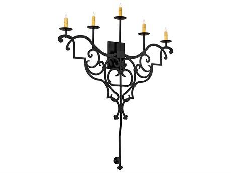 Meyda Fleur De Lys Wrought Iron 5-light LED Vanity Light MY216227