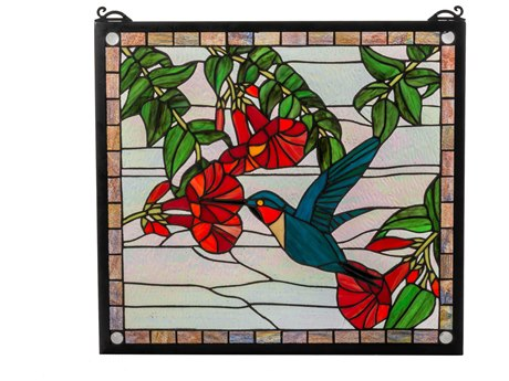 Meyda Tiffany Hummingbird Stained Glass Window MY81540