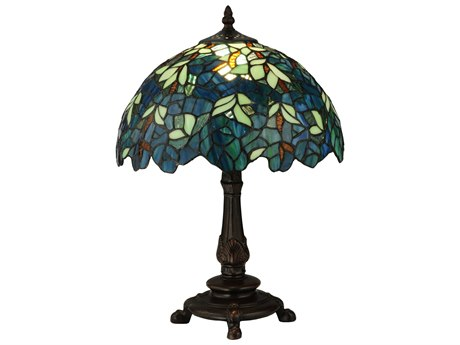 Meyda Tiffany Nightfall Wisteria Multi-Color Accent Table Lamp MY124813