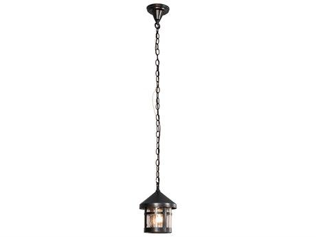 Meyda Fulton Black / Clear Seedy 1-light Glass Outdoor Hanging Light