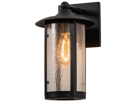Meyda Fulton Black / Seedy 1-light Glass Outdoor Wall Light