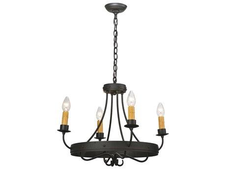 Meyda Tiffany Franciscan Four-Light 20 Wide Mini-Chandelier MY112632