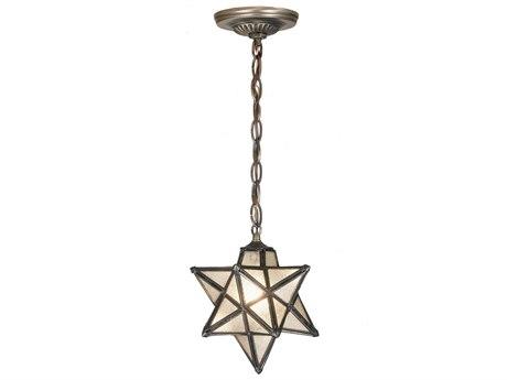 Meyda Tiffany Moravian Star Seedy 9'' Wide Mini Pendant Light MY21837