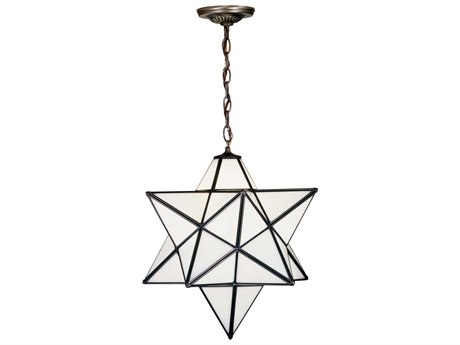 Meyda Tiffany Moravian Star White Pendant MY21842