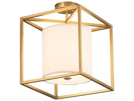 Meyda Kitzi Brass Tint 1-light 19'' Wide Semi-Flush Mount