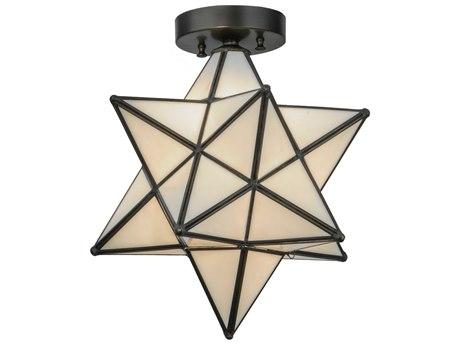 Meyda Tiffany Moravian Star White Flush Mount Light MY148882