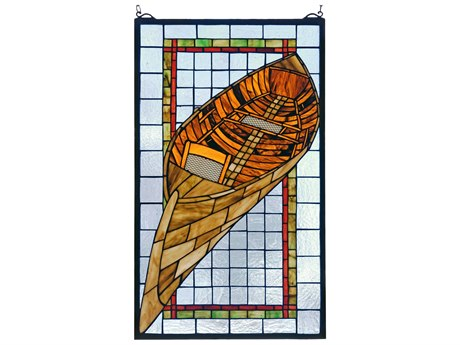 Meyda Tiffany Guideboat Stained Glass Window MY21439