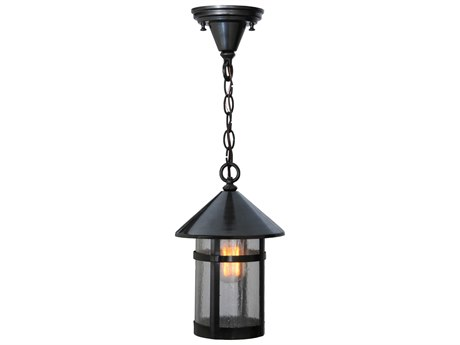 Meyda Tiffany Craftsman Signature Fulton   Outdoor Hanging Light