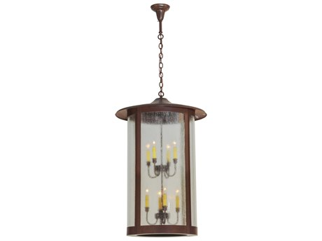 Meyda Tiffany Fulton   Eight-Light Outdoor Hanging Light