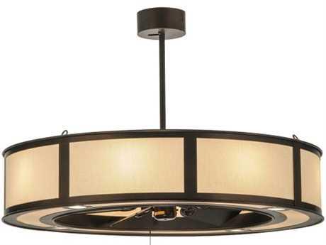 Meyda Tiffany Smythe Craftsman Beige Linen 16-Light Chandel-Air