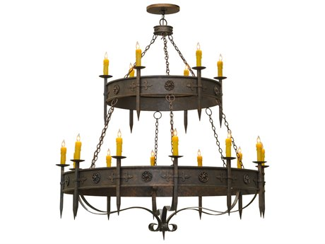Meyda Tiffany Calandra 2 Tier 18-Light 69 Wide Grand Chandelier MY145304