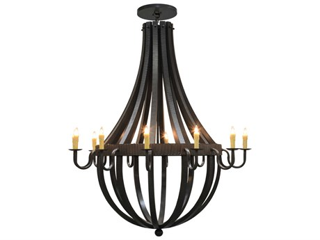 Meyda Tiffany Barrel Stave Metallo 12-Light 72 Wide Grand Chandelier MY149172