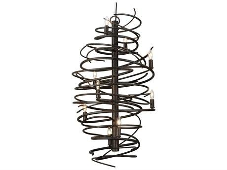 Meyda Tiffany Cyclone Nine-Light 21'' Wide Mini Chandelier