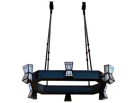 Meyda Tiffany Porte Cochere Oblong 6-Light 48'' Wide Island Light MY110616