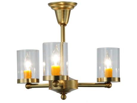 Meyda Tiffany Bakersfield Three-Light Semi-Flush Mount Light