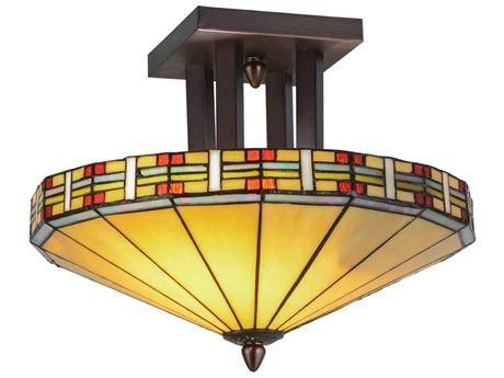 Meyda Tiffany Arizona Two-Light Semi-Flush Mount Light MY144759