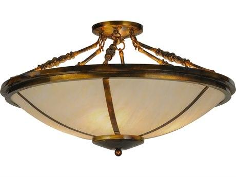Meyda Tiffany Commerce Four-Light Semi-Flush Mount Light MY148570