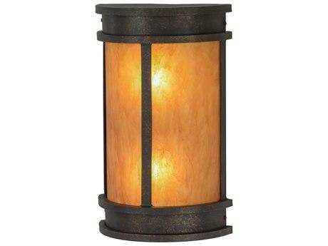 Meyda Tiffany Wyant Pocket Two-Light Lantern Outdoor Wall Light