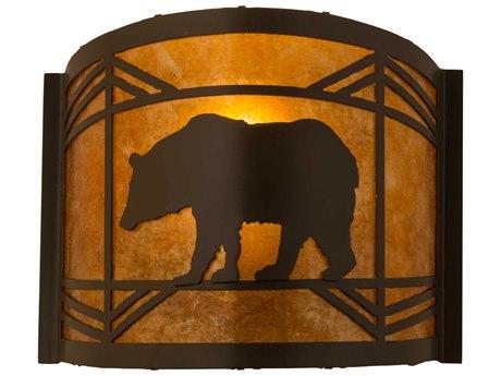 Meyda Tiffany Lone Bear Timeless Bronze 12'' Wide Wall Sconce MY111779