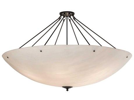 Meyda Madison Black / White 12-light 60'' Wide Pendant