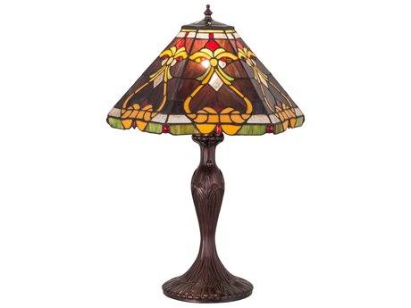 Meyda Lighting Middleton Mahogany Bronze Table Lamp