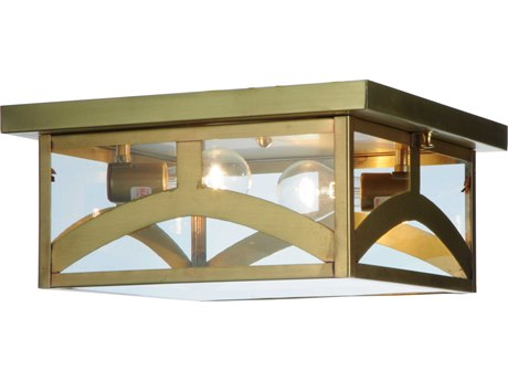 Meyda Tiffany Hyde Park Hill Top Two-Light Outdoor Ceiling Light