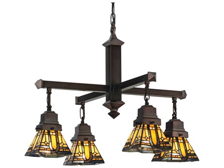 Meyda Tiffany Sierra Prairie Mission Four-Light 25 Wide Chandelier MY153607