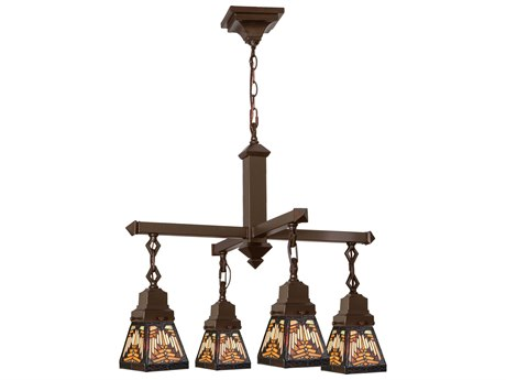 Meyda Tiffany Nuevo Mission Four-Light 26 Wide Grand Chandelier MY66523