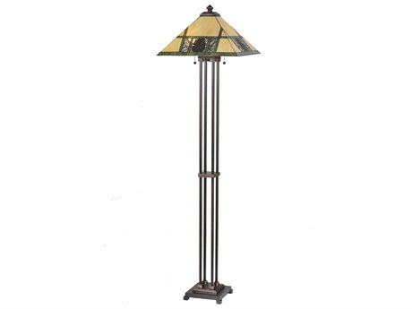 Meyda Tiffany Pinecone Ridge Multi-Color Floor Lamp