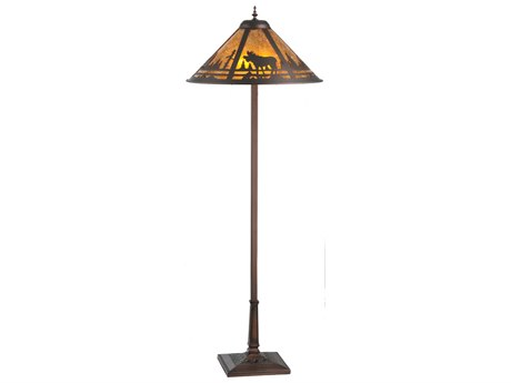 Meyda Tiffany Moose Creek Brown Floor Lamp MY107889