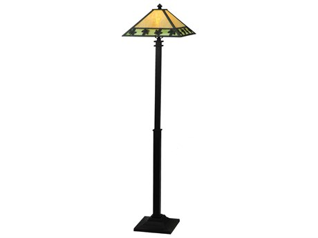 Meyda Tiffany Maple Leaf Multi-Color Floor Lamp