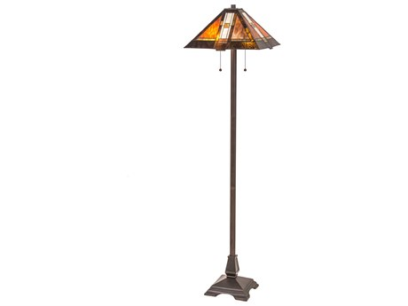 Meyda Tiffany Montana Mission Multi-Color Floor Lamp MY118710