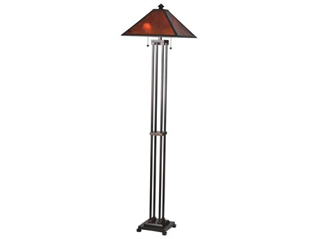 Meyda Tiffany Van Erp Amber Mica Floor Lamp MY24218