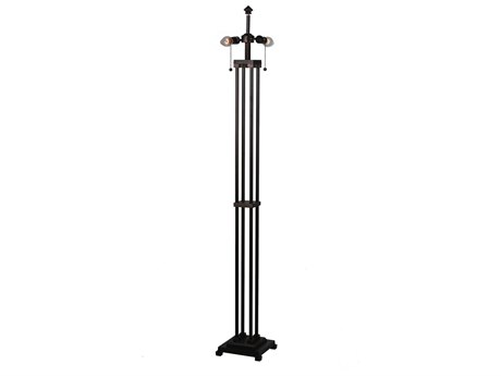 Meyda Tiffany Column Mission Bronze Two-Light Floor Lamp Base MY28008