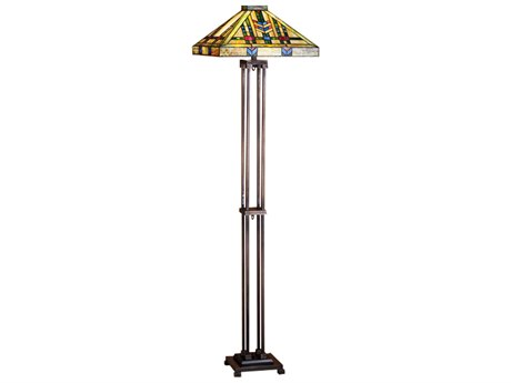 Meyda Tiffany Prairie Wheat Multi-Color Floor Lamp MY28326